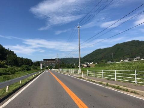 錦部から県道181号に