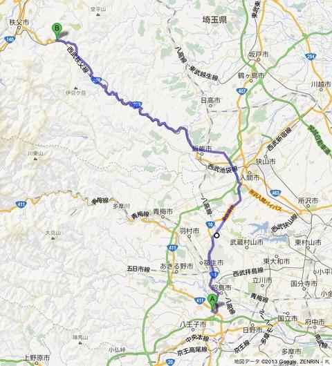 雁坂トンネルと柳沢峠