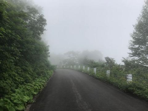 奥志賀スーパー林道 霧が深いと怖い