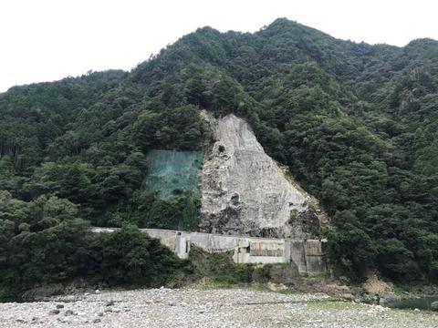 原田橋の崩落地点