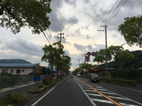 西日本漫遊。2016GWツーリング 4日目 425号は崖の道