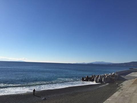 冬の箱根熱海へツーリング