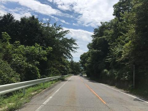 茶臼山高原道路こと県道507号線を走る