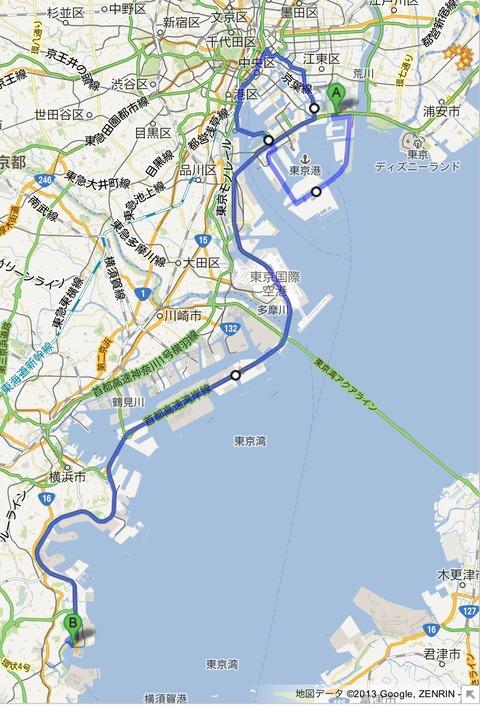 車載テスト in 八景島