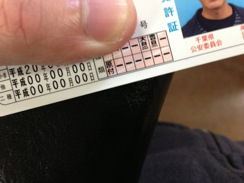 免許とかETCカードとか