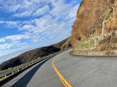 晩秋の伊豆半島。箱根ターンパイクから伊豆スカイラインと西伊豆スカイラインへ。