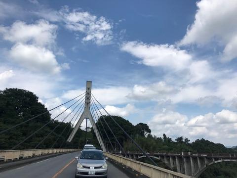 秩父橋を抜ける。天気がもってよかった