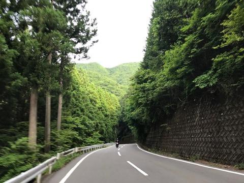 道志渓谷こと県道24号を通り抜ける。楽しい峠道