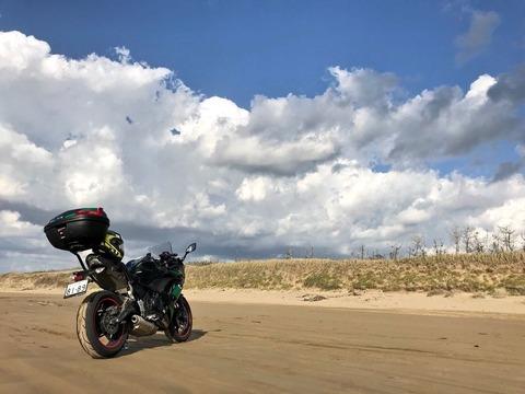 天生峠を越えて千里浜なぎさドライブウェイへ!