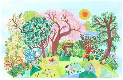 牧野植物園こんこん山広場イメージ