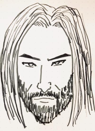 何も見ずに描いたキアヌリーブス