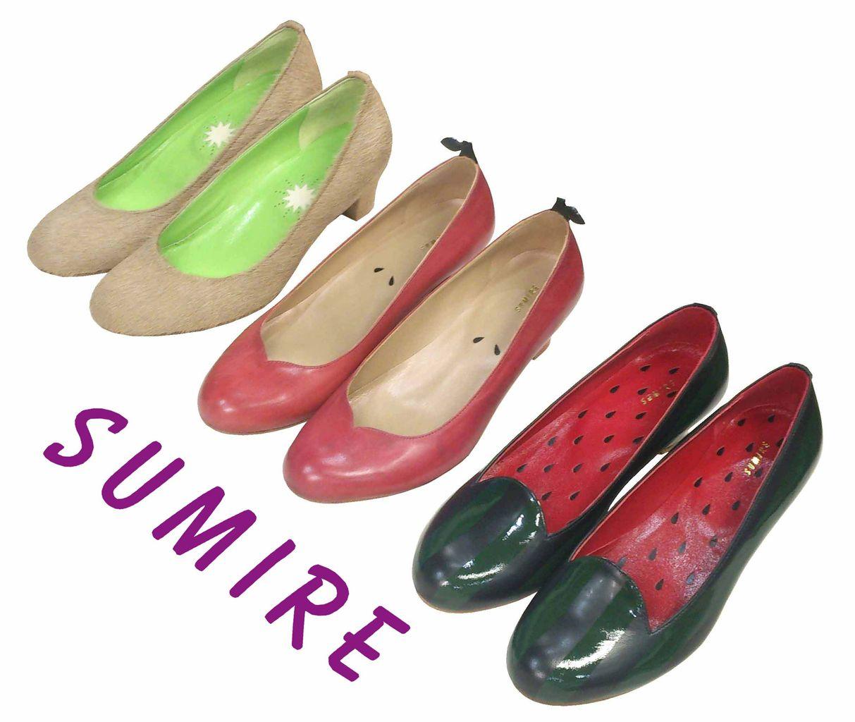 東京在住の靴職人、篠原すみれさんが果物をモチーフとした斬新なデザインの靴を制作している。これは外見が果物で、その靴の中が果物の\u201c切り口\u201dをイメージしたデザイン