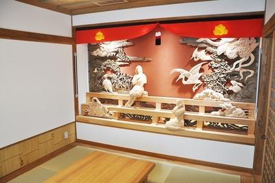 �だんじり彫刻の壁面装飾