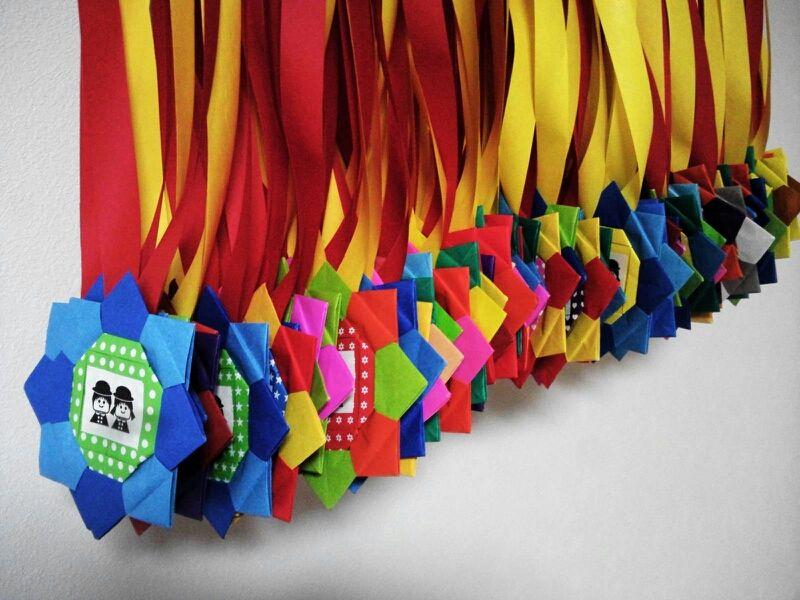 すべての折り紙 折り紙で星の折り方 : できたー!!!(折り紙メダル ...