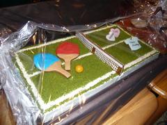 卓球ケーキ