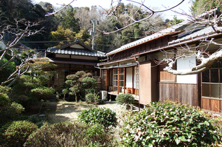 Traditional Japanese House Near Sea