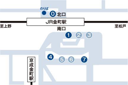 金町駅マップ