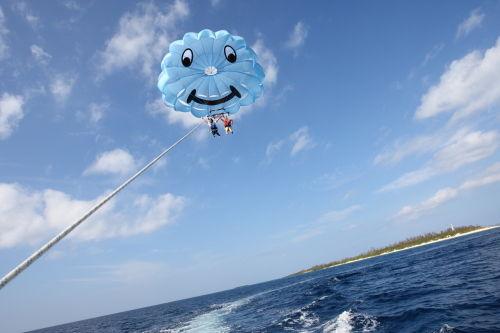 parasailing #1 @ Motobu