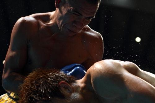 Boxing match @ Ginowan city