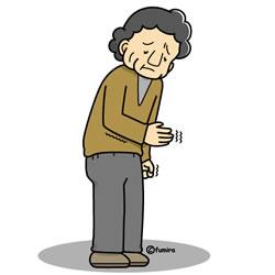 手の震え・痺れ・病気の老人イラスト