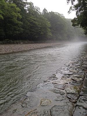中にある川