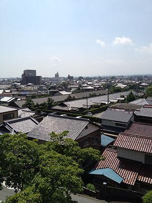 松阪城から見える景色