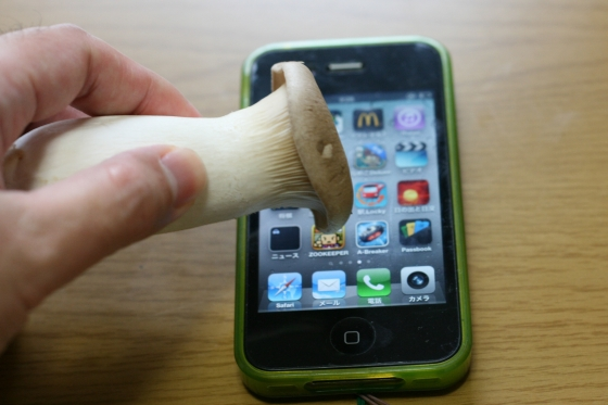 iphoneはエリンギで操作できる