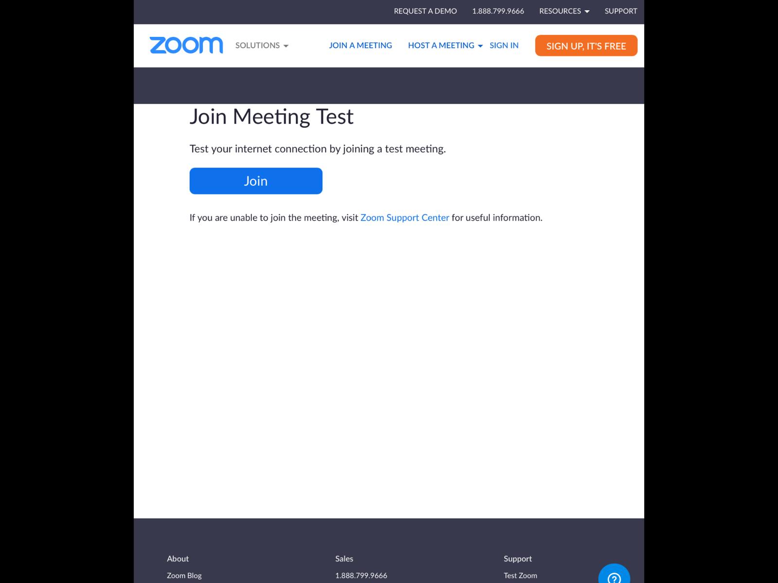 テスト サイト zoom