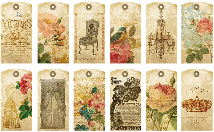 a tiny little free printable romantic gift tags collage sheet negle Image collections