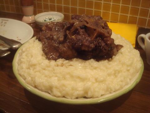 メッシタ 牛スネ肉煮込み リゾット
