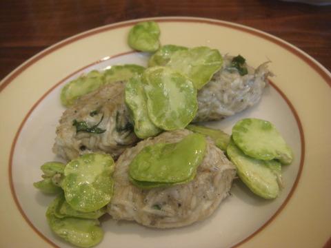 メッシタ 生シラスと蚕豆のフリット