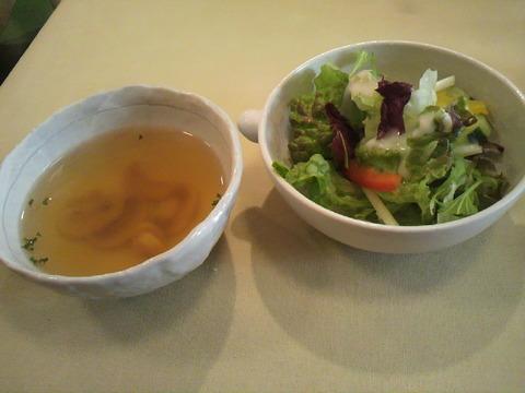 陶花 セットスープ、サラダ