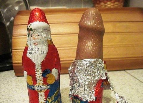 サンタのチョコ