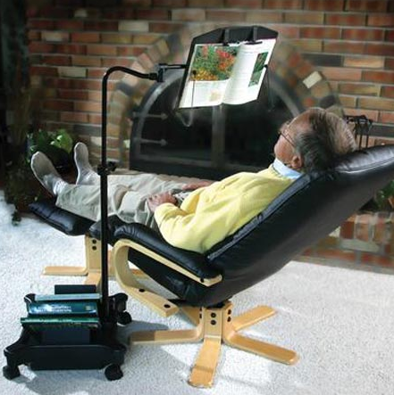 automatic book reading chair