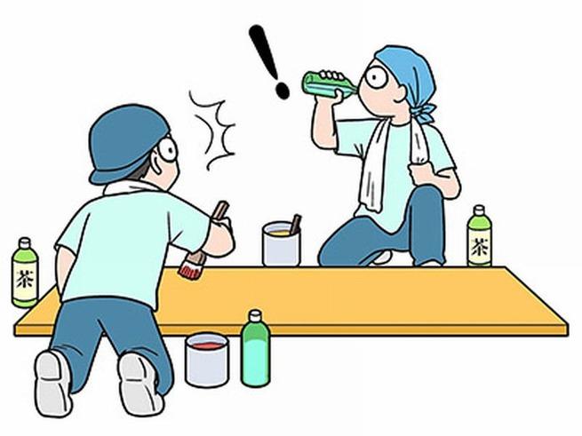 【悲報】現場作業員「あー疲れた・・・ジュース飲もっと」ゴクー