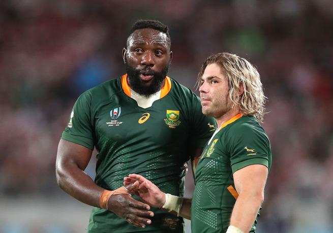 ラグビー南アフリカの金髪ロン毛司令塔www