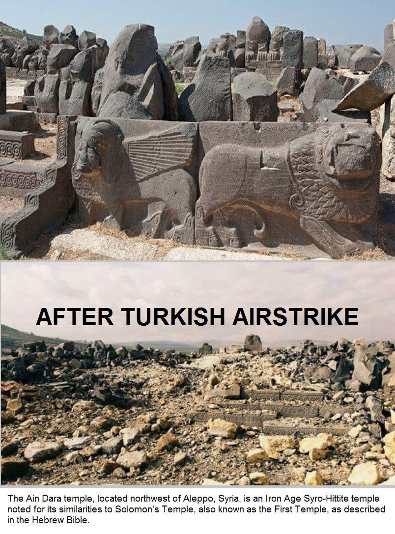 トルコの空爆で3000年前のヒッタイト新王国の神殿破壊 シリア北部