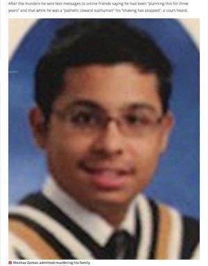 【発覚恐れ】大学に通っていると嘘をつき通した息子、伝えていた卒業式前日に家族4人を殺害 カナダ