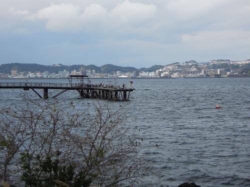 対岸は鹿児島市街
