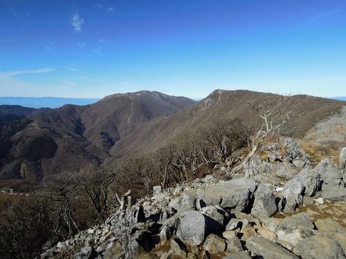 御池岳と天狗岩