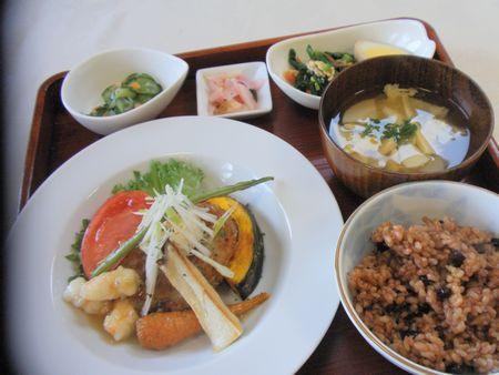 蓮根餅と焼き野菜海老あん2月16日