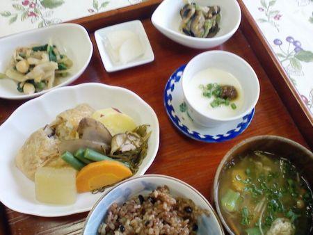 袋煮と野菜の炊き合わせ