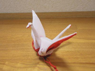 古布の折鶴