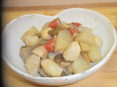 塩こうじで根菜の重ね煮