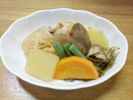 揚げの袋煮野菜の炊き合わせ