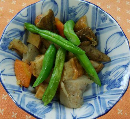 車麩と根菜のゴマだし麹煮物