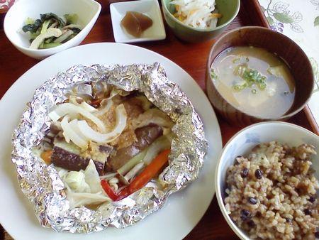 豚ロースの味噌のホイル焼