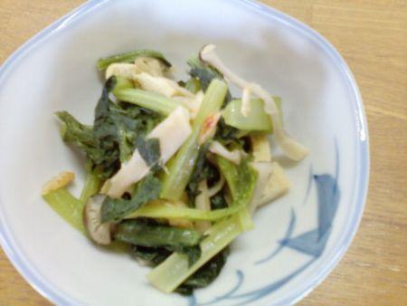 しめじと小松菜の重ね煮煮びたし