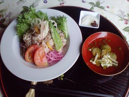 重ね煮のサラダライス