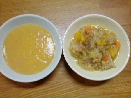 炒り玄米重ね煮スープ